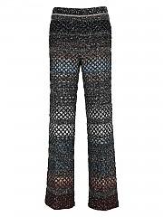[관부가세포함][미쏘니] FW20 여성 black mesh palazzo 팬츠 (MDI00228 BK00MH SM31P)