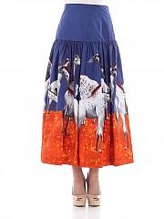 [관부가세포함][스텔라진] Blue flared skirt (J G 026 80 T 9505 0088)