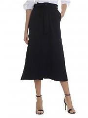 [관부가세포함][람베르또 로자니] Long knitted skirt in dark blue (281102 691)