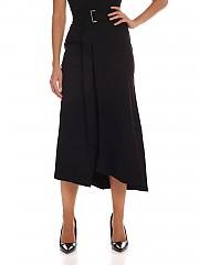 [관부가세포함][퍼지] FW19 여성 Black 미디 스커트 with front vent (F91711 11637 999)