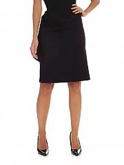 [관부가세포함][퍼지] FW19 여성 Black 니렝스 스커트 with drapery (F91655 11637 999)