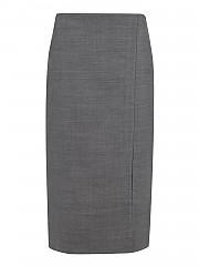 [관부가세포함][살바토레 페라가모] FW20 여성 wool blend pencil 스커트 (739955 GRG BGE)