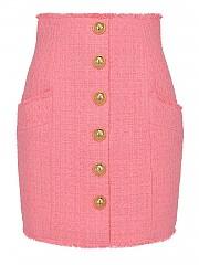 [관부가세포함][발망] SS21 여성 logo button cotton 스커트 (VF14086C2704KH)