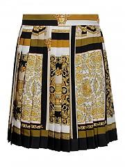 [관부가세포함][베르사체] SS21 여성 silk pleated miniskirt (A794481F003855W060)