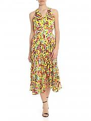 [관부가세포함][살로니] Rita dress in yellow with multicolor floral pattern (10210 700 736)
