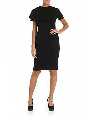 [관부가세포함][퍼지] FW19 여성 니렝스 원피스 in black with pleats (F91650 11637 999)