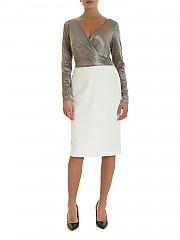 [관부가세포함][랄프로렌] FW19 여성 원피스 Dress in white with top lame (253768097002)