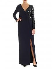 [관부가세포함][랄프로렌] FW19 여성 롱 원피스 in blue with top side sequins (253751493002)