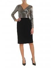 [관부가세포함][랄프로렌] FW19 여성 원피스 Dress in black with lame detail (253768097001)