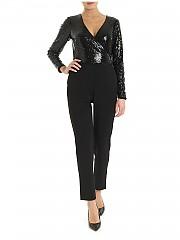 [관부가세포함][랄프로렌] FW19 여성 점프 수트 in black swith sequined top (253756590001)