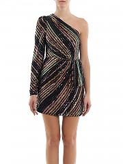 [관부가세포함][셀프포트레이트] SS20 여성 sequins striped mini 원피스 (RS20-061)