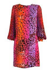 [관부가세포함][클립스] FW20 여성 pleated sleeves multicolor animal print 원피스 (A0 1 T009 3974 00016)