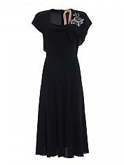 [관부가세포함][N° 21] FW20 여성 jewel flower silk blend 원피스 (H141 5111 9000)