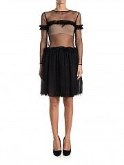 [관부가세포함][니코판다] Tulle dress (FW17DR02-BLK BLACK)