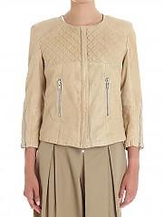 [관부가세포함][S.W.O.R.D 6644] Beige quilted leather biker jacket (204 F38)
