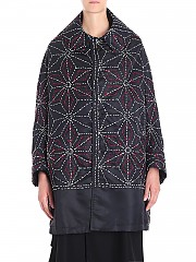 [관부가세포함][Y's 요지야마모토] Dark blue coat with red and white embroidery (YI-C09-629-1)