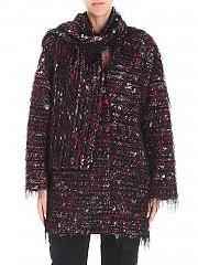 [관부가세포함][블루걸] Tweed coat with fringes (6259 178)