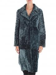 [관부가세포함][드로메] Green reversible shearling coat (DPD5201FP D425 5089)