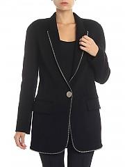 [관부가세포함][알렉산더 왕] Black coat with applied zip (1W282019D9 001)