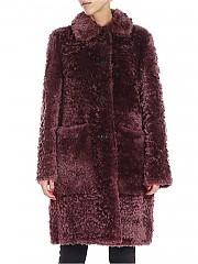 [관부가세포함][데사] Wine-colored sheepskin coat (K11387 AMETHYST)