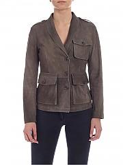 [관부가세포함][데사] Brown suede jacket (K11600 ASFALT)