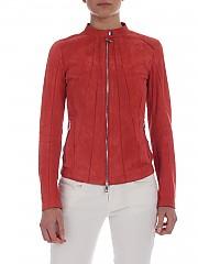 [관부가세포함][데사] Suede jacket in coral red color (K11594 KISS)