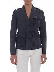 [관부가세포함][데사] Grey suede jacket (K11600 BLACK)
