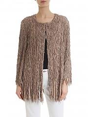 [관부가세포함][데사] Fringed overcoat in beige (K11670 RAFIA)