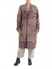 [관부가세포함][Y's 요지야마모토] Y'S Pink Coat in damask fabric (YJ-C41-135)