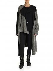 [관부가세포함][Y's 요지야마모토] FW19 Black and ivory 여성 코트 fabric (YC-C20-106-1)