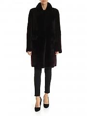[관부가세포함][데사] FW19 Brown sheepskin reversible 여성 코트 (K12056 BITTER)