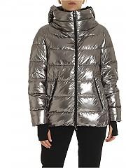 [관부가세포함][에르노 라미나르] FW19 여성 Silver 퀼트 후드 재킷 (PI085DL 12292 8000)