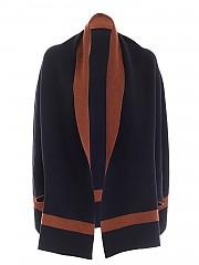 [관부가세포함][Le Tricot Perugia] FW20 여성 blue and brown cape (46821 9D37 9009)