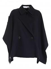 [관부가세포함][씨바이클로에] FW20 여성 울혼방 판초 코트 (CHS20AMA040014D2)