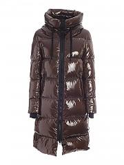 [관부가세포함][에르노 라미나르] FW20 여성 quilted brown 다운점퍼with hood (PI122DL 12345 8158)