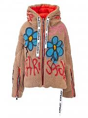 [관부가세포함][크리스조이] FW20 여성 khris pile graffiti 다운점퍼 (AFPW001 PILE GRCML)