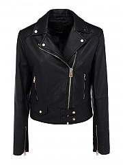 [관부가세포함][핀코] SS21 여성 sensibile 7 leather biker 자켓 (1G15MKY6WLZ99)