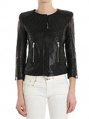 [관부가세포함][S.W.O.R.D 6644] Leather jacket with quilted detail (204 10)