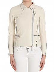 [관부가세포함][S.W.O.R.D 6644] Cream-colored leather jacket (Gold Limited Edition) (9170 F39)