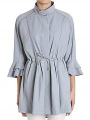 [관부가세포함][드로메] Blue leather overcoat (DPD5488V D1222 7191)
