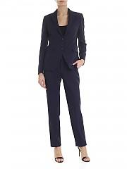 [관부가세포함][딸리아또레] Blue suit with stitching (TFDL22BS 83006 B1302)