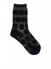 [관부가세포함][Y's 요지야마모토] Polka dot stretch socks in black (YH-M04-690-5)