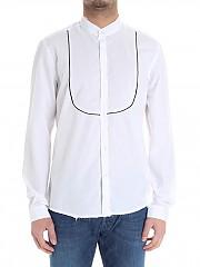 [관부가세포함][LOW BRAND] White shirt with plastron (L1CSS183285 A001 WHITE)