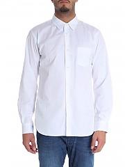 [관부가세포함][꼼데가르송 셔츠 보이즈] White shirt with logo print (W26936 3)