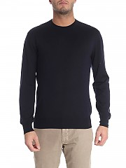 [관부가세포함][크루치아니] Blue cashmere and silk pullover (CU487.G02 21DM/0008 30395)