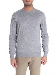 [관부가세포함][크루치아니] Grey cashmere and silk pullover (CU487.G02 21DM/0003 31066)