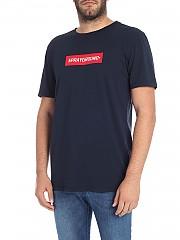 [관부가세포함][스프레이그라운드] Blue T-shirt with contrasted logo (9100T001NAV)