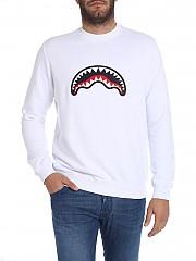 [관부가세포함][스프레이그라운드] White sweatshirt with logo patch (9100F001WHT)