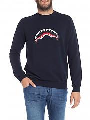 [관부가세포함][스프레이그라운드] Blue sweatshirt with logo patch (9100F001NAV)
