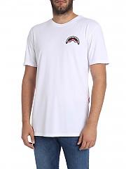 [관부가세포함][스프레이그라운드] White T-shirt with logo patch (9100T002WHT)
